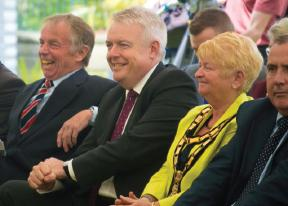 First Minister Carwyn Jones: Enjoying the day's performances
