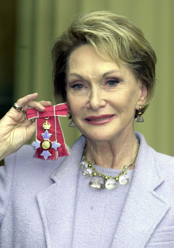 Sian Phillips Receiving her CBE in 2000