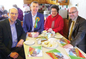 Llyr Gruffydd with Elin Jones, Simon Thomas and Adam Price: Launching Plaid's rural manifesto
