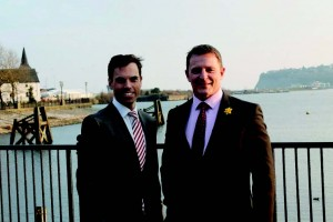 Deputy Minister for Culture, Tourism and Sport: With the newly appointed Chair of Sport Wales, Dr Paul Thomas.