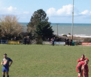 Picturesque setting: An injury allows Aberaeron and Penybanc to take a breather