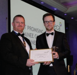 Ieuan Jones is the 'Most Promising Trainee Civil Engineer': The prestigious award ceremony was held at the Lancaster London Hotel