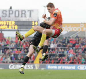 Liam Williams: Catches the ball mid air