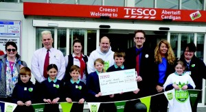 Tesco and Groundwork's Bags of Help initiative: T Llew Jones School wins the bid for maximum funding for their new nature reserve garden