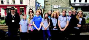 Cardigan Guides get green fingers: Girl group helps to tend Brioude Gardens