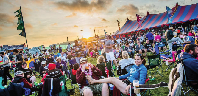 Festival goers: Enjoying the atmosphere (Pic. Keith Morris)