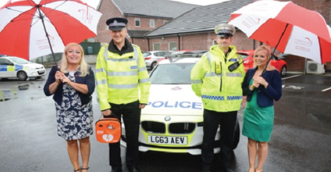 Welsh Hearts Calonnau Cymru: Aiming to get a defibrillator for each community police station