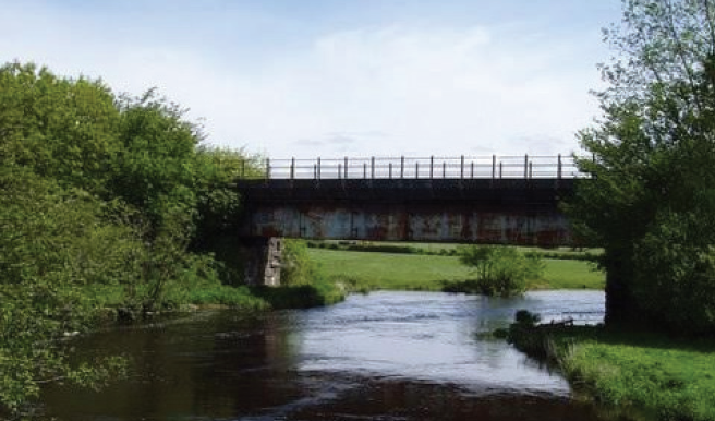 A bridge near Lampeter: Much of the infrastructure is still in place