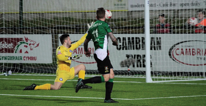 Double: Luke Borelli scored twice to give Aber victory