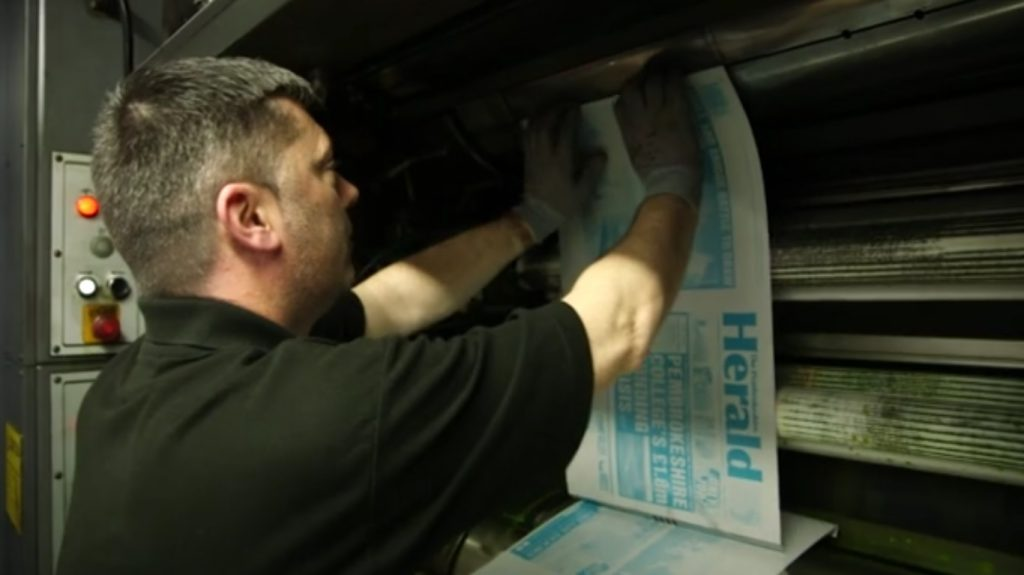 Set to close: Cardiff print centre prints most of Wales' local newspapers
