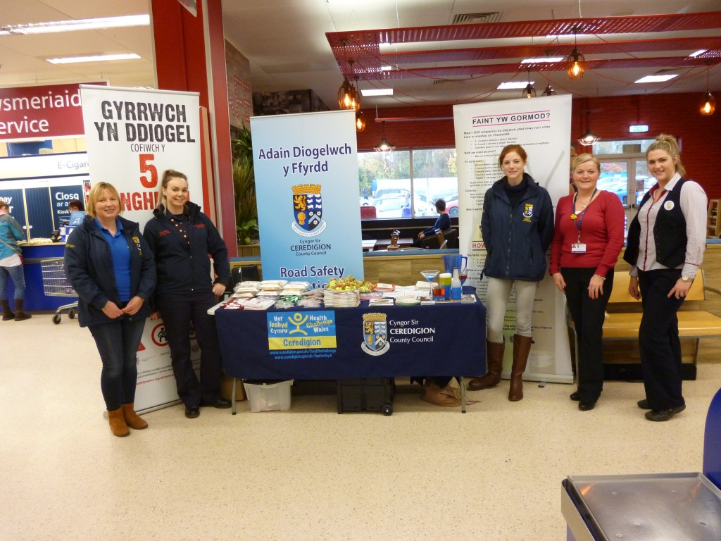 Raising awareness: At Tesco in Cardigan